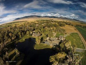 Drone flyover of Healing Waters Lodge in Southwest Montana