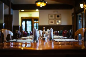 Dining Room Table at Healing Waters Lodge