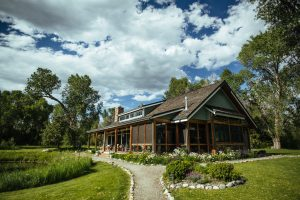 Exterior of Dining Hall at Healing Waters Lodge | Fly fishing lodge in Montana