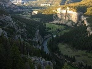 Aerial View of the Smith River in Montana