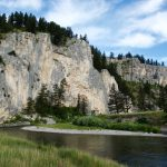 Cliff walls & river bend on the Smith River