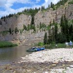 Beautiful scenery along the Smith River - Montana