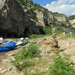 Rock stack on the Smith River