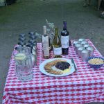 Appetizers at camp on the Smith River