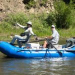 Guests & guide enjoying the Smith River