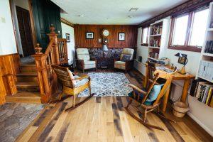 Reading Room at Healing Waters Lodge