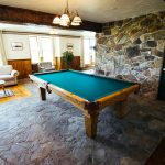 Pool Table in Main Lodge at Healing Waters Lodge