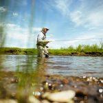 Angler wade fishing in southwest Montana
