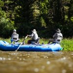 Anglers fly fishing the Smith River