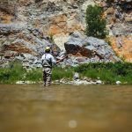 Fly fishing angler on the Smith River