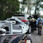 Guests Donna and Chet heading out for a day of fly fishing with Healing Waters Lodge